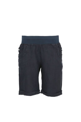 Linnen short, Marineblauw