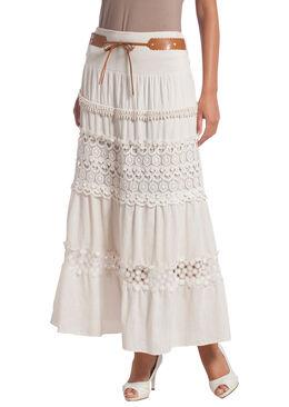 Lange rok met knoopwerk,  | Cassis
