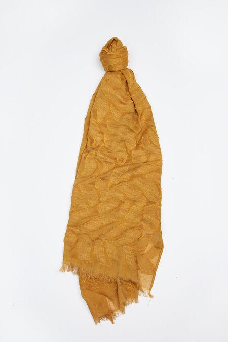 Foulard uni en coton - Moutarde