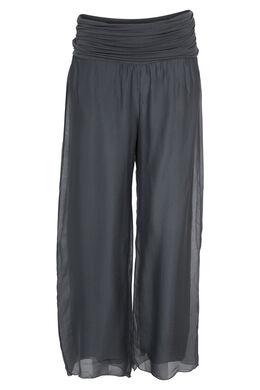 Pantalon en voile, Gris-moyen