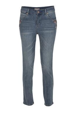 Jeans met borduurwerk, Denim