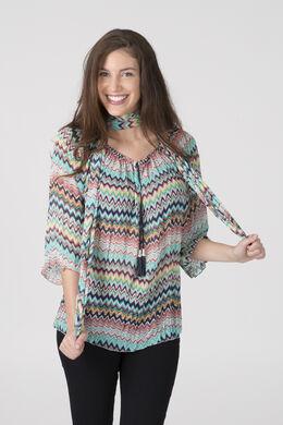 Tuniek met zigzagprint, Multicolor