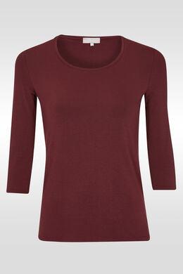 Basic T-shirt met ronde hals,  | Cassis