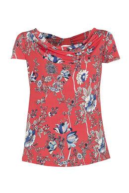 T-shirt met Japanse print, Rood