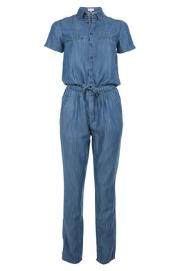 Jumpsuit van lyocell, Blauw