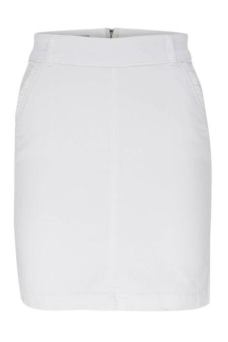 Jupe courte en coton - Blanc