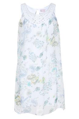 Robe macramé imprimé fleuri, Vert Jade