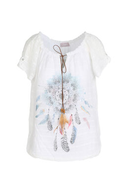 Blouse dreamcatcher, Ecru