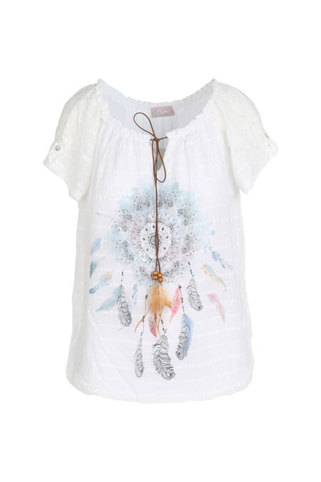 Blouse dreamcatcher - Ecru