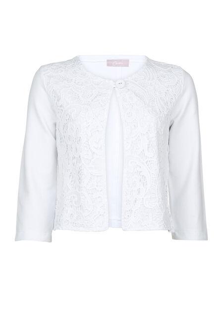 Veste macramé - Blanc