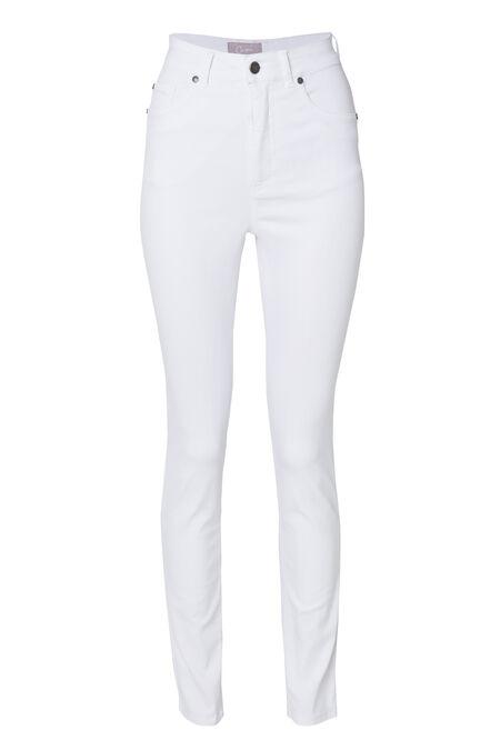 Slim push-upbroek met hoge taille - Wit