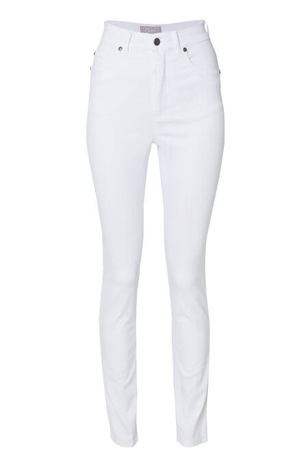 Pantalon push up taille haute slim - Blanc
