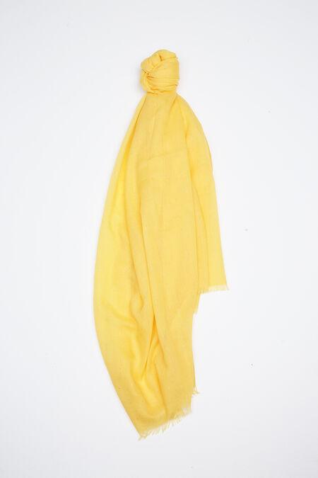 Effen foulard met lovertjes - Geel