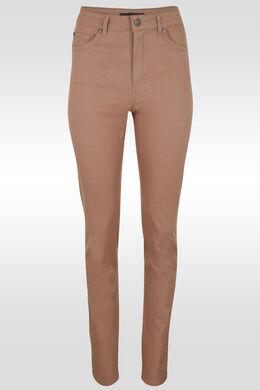 Pantalon push up taille haute slim, Vieux rose