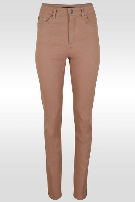 Pantalon push up taille haute slim - Vieux rose
