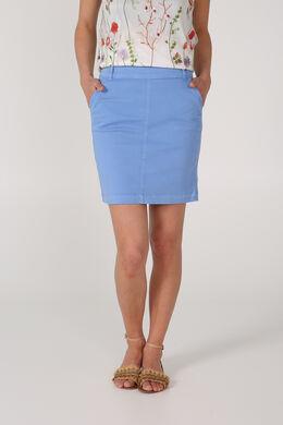 Korte rok in katoen, Blauw