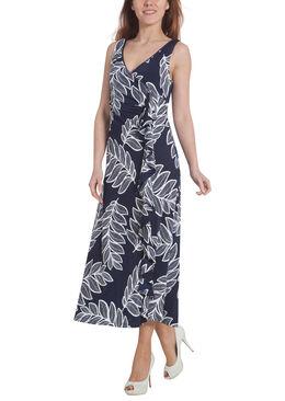 Lange jurk met een bef vooraan,  | Cassis
