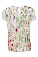 T-shirt 2-in-1 met borduurwerk, Ecru