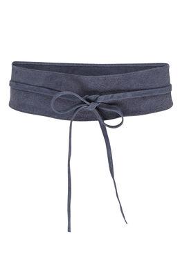 Large ceinture en daim, Marine