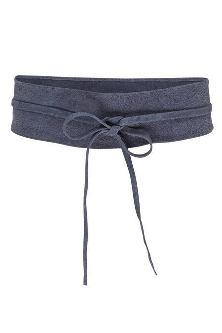 Large ceinture en daim - Marine