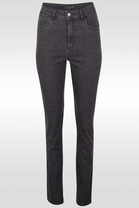Jeans push up taille haute slim - Gris