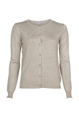 Cardigan avec strass, Sable