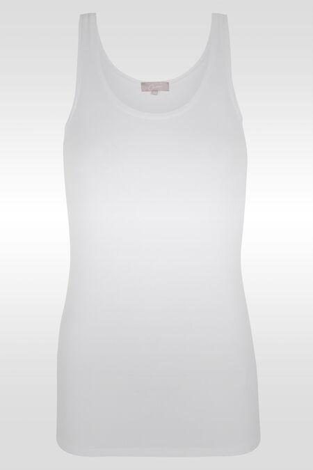 Top met brede schouderbandjes - Wit