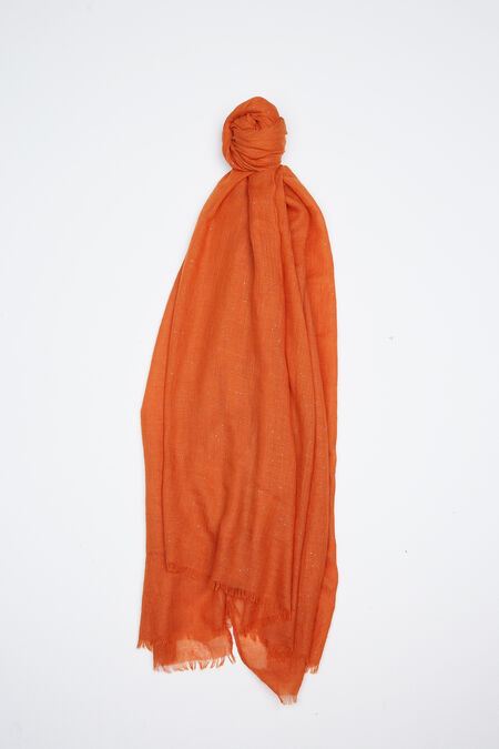 Foulard uni à paillettes - Orange