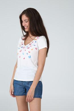 T-shirt ample imprimé de papillons, multicolor