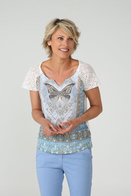 T-shirt papillon et strass, Ciel