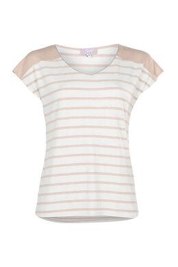 Gestreept T-shirt, huidskleur