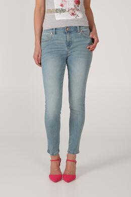 7/8-jeans met afgewassen effect, Licht denim