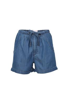 Short van lyocell, Blauw