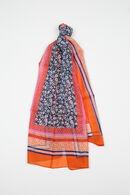 Bedrukte zijden foulard, Oranje