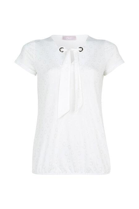 T-shirt imprimé ronds - Ecru