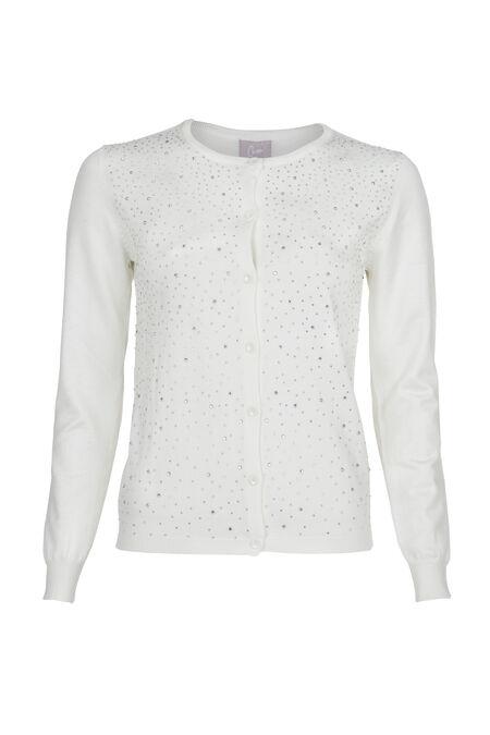Cardigan avec strass - Blanc