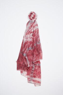 Foulard imprimé abstrait, Rose