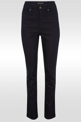 Rechte push-upbroek met hoge taille , Marineblauw