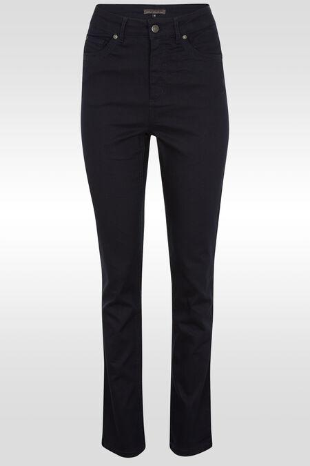 Rechte push-upbroek met hoge taille  - Marineblauw