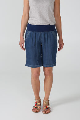 Short in lyocell, Blauw
