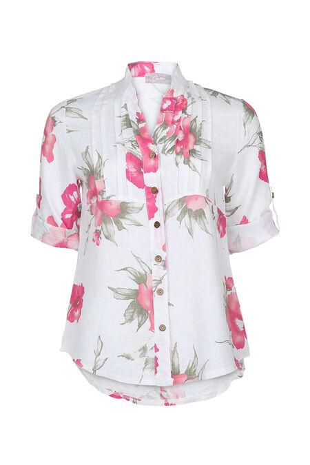 chemise en lin - Blanc