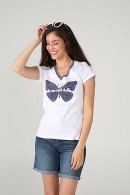 T-shirt la vie est belle, Blanc