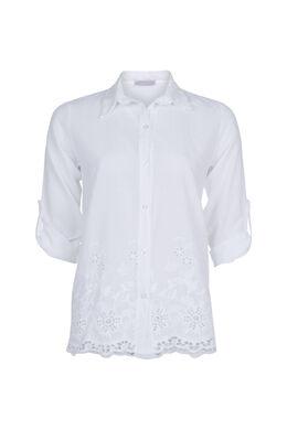 Hemd met Engels borduurwerk, Wit
