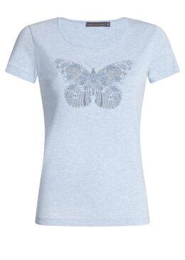 T-shirt in katoen met vlinderprint,  | Cassis