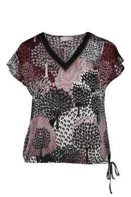 T-shirt met wildprint, Bordeaux