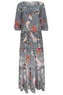 Robe imprimé japonisant, Kaki