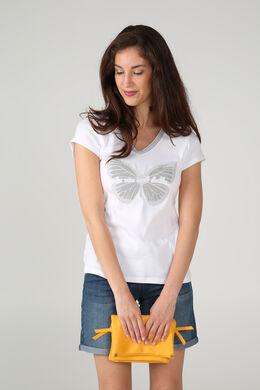 T-shirt 'La vie est belle', Ecru