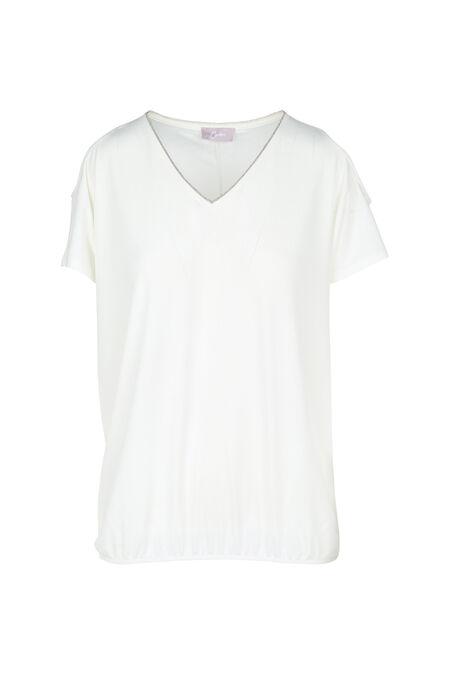 T-shirt met open schouders - Ecru