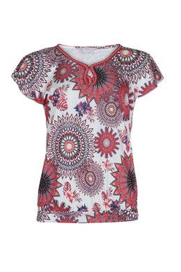 T-shirt met druppelprint, Rood