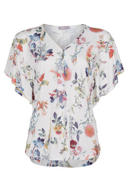 T-shirt met vlindermouwen, Multicolor
